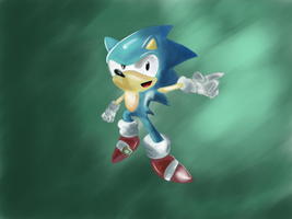 Classic Sonic by Pwnem