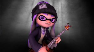 Rock 'n Roll Squid by VioletInkling
