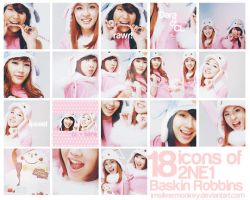 2NE1 Baskin Robbins icon batch by imsilvermonkey