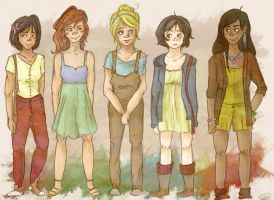 Modern Disney Princesses. by pokings