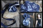 Moongazing Hare Pouch for Dice, Coins, Runes etc. by ImogenSmid