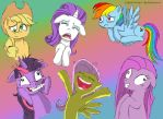 My little crazy ponys by angela808