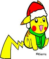 Pikachu Christmas by PeachKirbyCutie