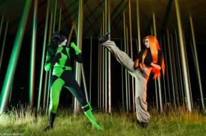 ~Helimatra Cosplay~ Kim Possible - Kim vs Shego by HelimatraCosplay