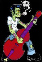 Rockabilly Zombie - Color by iamxer0