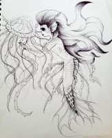 A Friend of the Jellyfish by iloveonly1