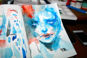 Watercoloring test.. by funerals0ng