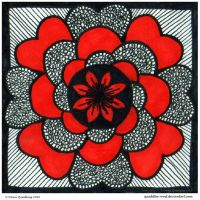 Dreaming In Red Mandala by Quaddles-Roost