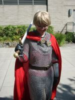 Arthur Pendragon at Kumoricon 2014, day 0 by fluffpuffgerbil