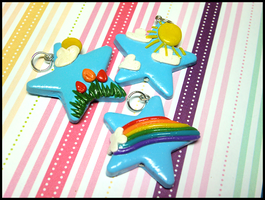 Spring Star Necklaces by GrandmaThunderpants