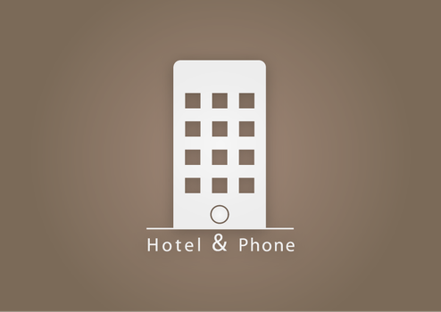Hotel and Phone logo by SebDominguez