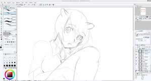 Kasukerii Birthday Illustration Progress by A-U-R