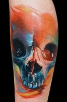 Calavera Meltdown by maximolutztattoo