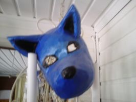 Blue wolf mask by BrokenBone