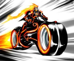 Ghost Rider - Tron by TheRisingSoul