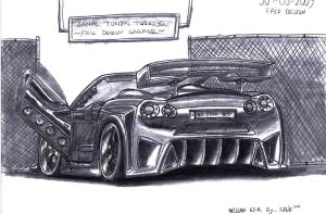 Nissan_GT-R_STT_ART by Faik05