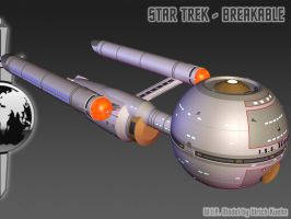 I.S.S. DAEDALUS for STAR TREK - BREAKABLE ISO-04 by ulimann644