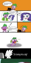 Spike into a Dog by Helsaabi