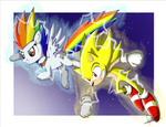 .:Super Sonic Rainbow Boom:. by The-Butch-X