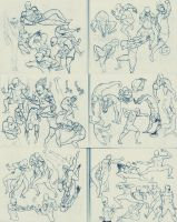 Fight Poses by k0di
