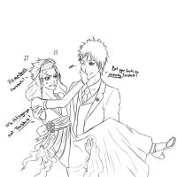 The wedding-IchiHitsu lineart by NamineNobody