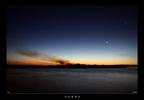 venus, moon and fire by S-D-R