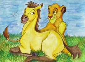 Simba and Spirit by Artistic-Fat-Hobbit