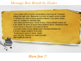 A message box Brush for Gimp by izodev