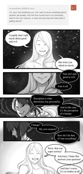 Tumblr ask: Ananke's personality by Zennore