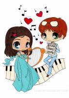 Musical Chibis Colored by Maiko-Girl