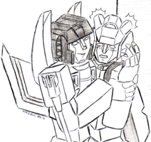 red alert + starscream by AosakiKeiko