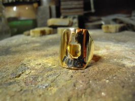 gold F... ring 2 by Debals