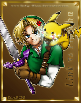 Link vs Pikachu by Rolly-Chan