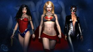 DC Girls Wallpaper by WiL3D