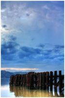 Lonely Pier by heelontheshovel