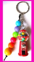 Gumball Machine Keychain by cherryboop