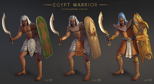 Egypt Warrior by rainerpetterart