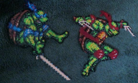 Leo and Raf perler by grumble-king2
