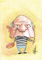 Pablo Picasso Caricature by Fyra