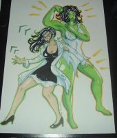 She Hulk Transformation II by raccoon-eyes