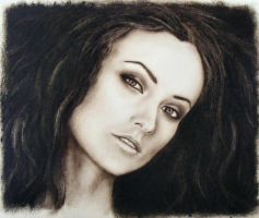Olivia Wilde portrait Dry Brush by MissRhed