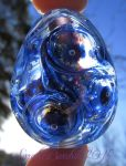 'Starful' lampwork Universe Egg by fairyfrog