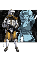 Commanders and Generals: Bly and Aayla Color by Hodges-Art