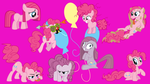 the many faces of pinkie pie by neodarkwing
