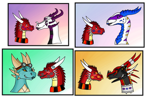 Coloured Thorn kisses part 4 by Thornacious