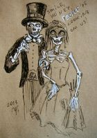 Skeleton's wedding by ShadeOvWarlock