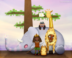 Welcome to africa- BumbleBeesh by childrensillustrator