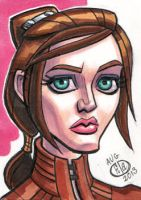 Bastila Shan Sketch Card by Chad73