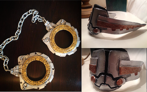 Loki Avengers Cuffs/Shackles and Muzzle by elsarose
