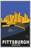 Travel Poster - Pittsburgh by t3hsilentone